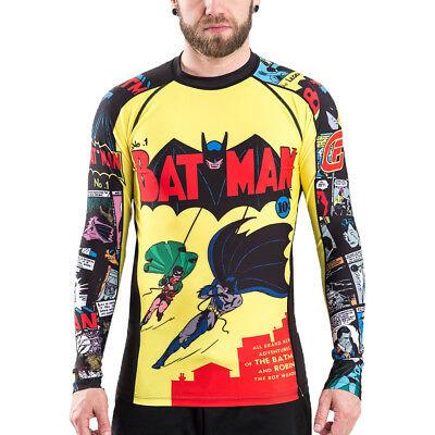 Fusion Fight Gear Batman Number 1 Comic Long Sleeve Rashguard