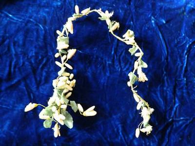 Vtg 20's wax bridal flowers for head piece