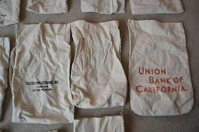 Vintage Cloth Bank Bag for Coins-Various Banks & sizes**Low Start Price