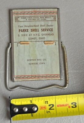 Sidney Ohio Parke Shell Gas Service station advertising mirror lot bx4