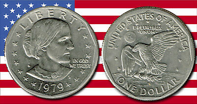 """U.S.A. : - """"Susan B Anthony""""  Nickel clad dollar coin dated 1979S.. AP6687"""