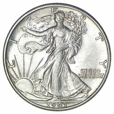 Choice AU/Unc 1943-D Walking Liberty Half Dollar *283