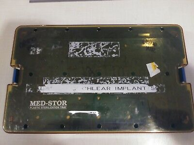 Med-Stor Plastic Delicate Instrument Sterilization Case W/ Mat Surgical Dental