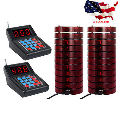 20*Restaurant Coaster Pager Wireless Guest Calling Paging Queuing System US SHIP