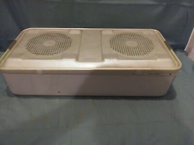 """Aesculap Full Size Sterilization Case 4"""" Perforated 12Lb Vet Dental Tattoo Lab"""
