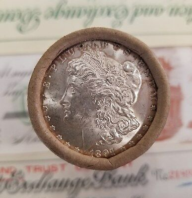 $20 Silver Dollar Roll 1891 and CC Morgan Dollar Ends