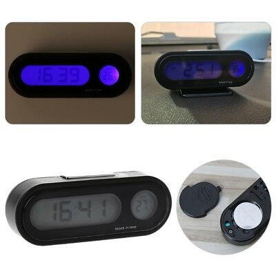 Car LCD Backlight Digital Clock Auto Watch Thermometer Ornament Mini Clock