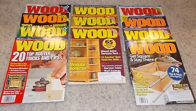 11 Issues Better Homes U0026 Gardens Wood Magazine For Home Woodworkers 2007 08