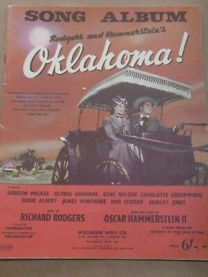 Oklahoma! Song Album - Sheet Music Book - words, music, chords