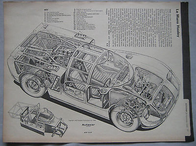 Healey-Climax Le Mans race car Cutaway Drawing