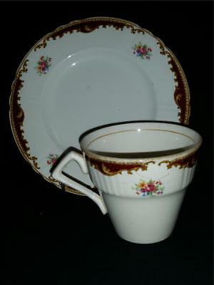 Retro Vintage Myott Kathleen Cup And Side Plate Staffordshire England