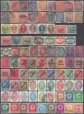 German Reich official stamps used (2695
