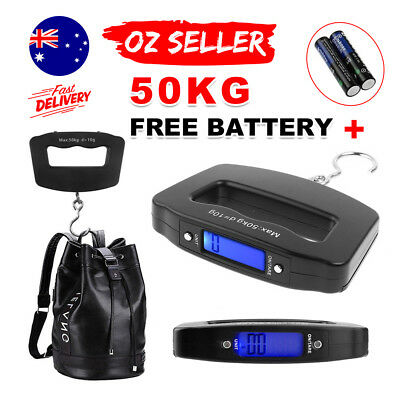 Electronic Digital Portable Scale Luggage Weight Hanging Travel 50 KG 10G AU