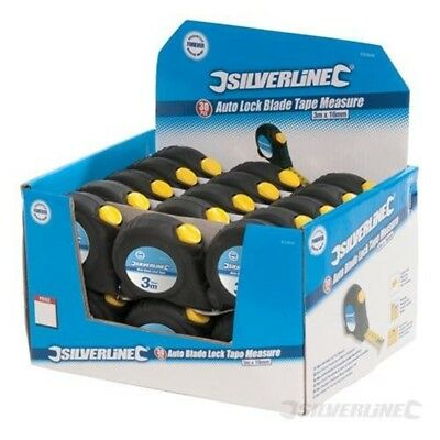 Silverline Auto Blade Lock Tape Display Box 30pce 5m / 16ft x 19mm - 868787