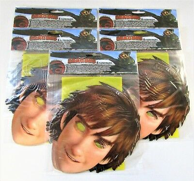 Pack of 30 How To Train Your Dragon Hiccup Character Masks - Fancy Dress Party