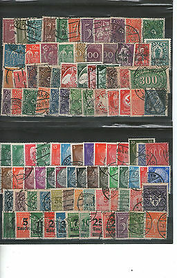 100 Briefmarken Sammlung Deutsches Reich Posthorn Infla Germania gestempelt Lot