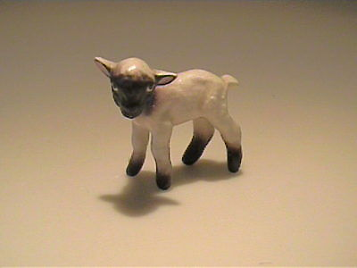 Vintage 1955 Hagen Renaker Miniature White Lamb With Black Face