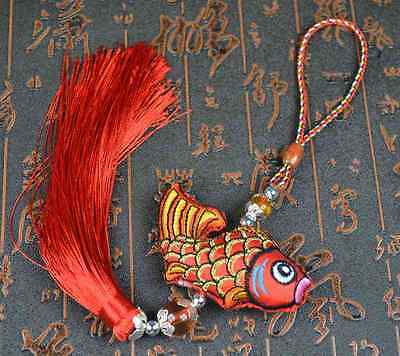 Chinese Lucky Feng Shui Fish Charm,Car hang, Good Fortune, Wealth, Gift,