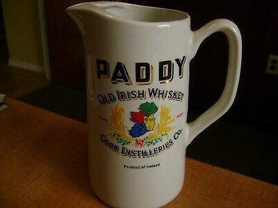 Paddy Irish Whiskey Pitcher Rare Made in Ireland by Carrigdhoun Pottery