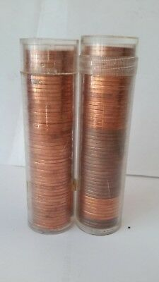 Lot Of 2 Canada Small Cent Rolls 1966 & 1964    -434
