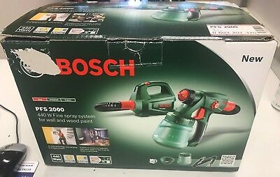 Bosch PFS2000 Electric Paint Sprayer/Spray System Gun For Painting Fence/Wall