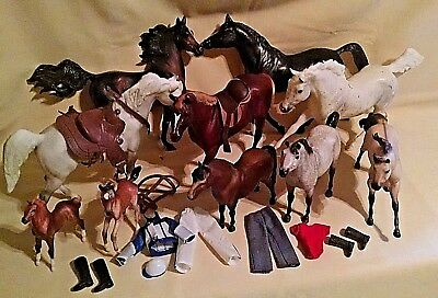 Breyer Horse Lot 10 Unger Doll Outfit Qty 2 Various Scales As Is Mustang Foal.
