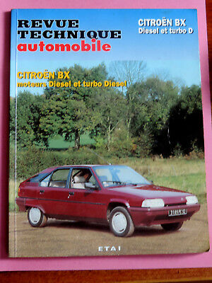 revue technique automobile RTA - CITROEN BX diesel et turbo D mai 1996 bel etat