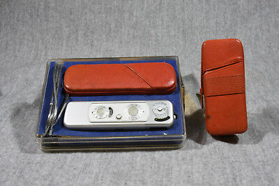 Mint Minox B With Display Case, Red Case, Chain, Flash With Red Case, Manual
