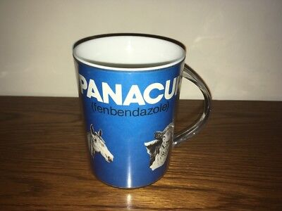 Vintage Insulated PANACUR (fenbenzadole) ADVERTISING MUGS - CUPS - COWS - HORSES