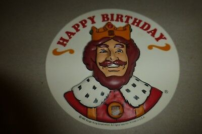 Vintage 1980 Burger King plastic sign Happy Birthday rare with The King