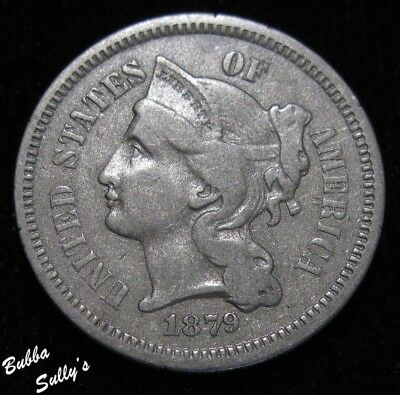 1879 III Cent Nickel <> EXTREMELY FINE