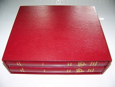 1999 Stanley Gibbons Elite Gb Windsor Boxed Albums Vol 1 & 2 With Full Set Pages