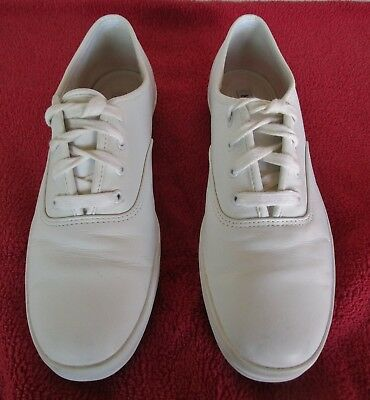 Women 8 1/2 Stevens Stompers White Keds Athletic Dance Tap Shoes Machine Wash