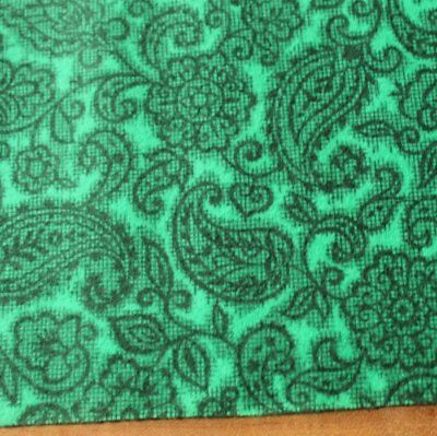 Vintage green printed 1950's Suisse Hat Fabric Millinery Fascinators hats Craft