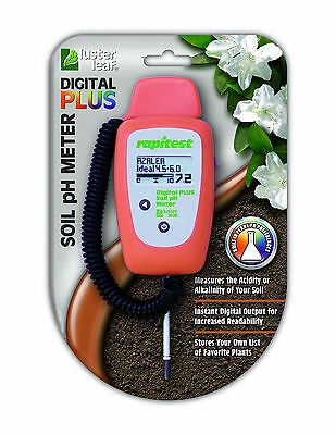 RAPITEST DELUXE DIGITAL Ph PLUS SOIL LAWN FLOWER GARDEN PLANT TEST TESTER METER