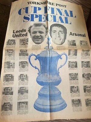 Leeds United Football Club Yorkshire Post 1972 Cup Final Special Newspaper Cover