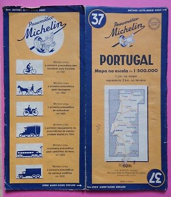 #) carte MICHELIN 37 PORTUGAL - 1950
