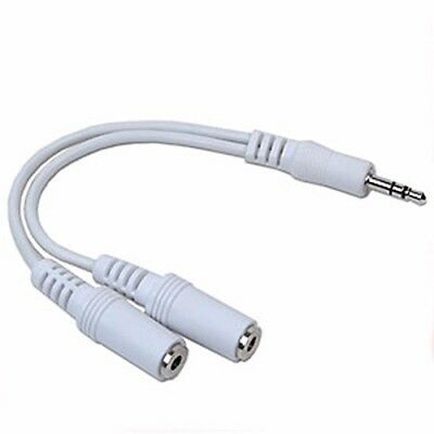 3.5mm Male to 2 x 3.5mm Female Stereo Y Adapter Cable Apple MP3 from USA