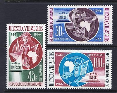 Dahomey 1966 Air - UNESCO 20th Anniversary - MNH Set  - (142)