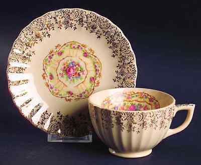 American Limoges TOLEDO DELIGHT SAND Cup & Saucer 7323668