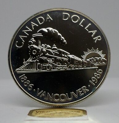 1986 Canada Vancouver Proof Silver Dollar -  #B11405