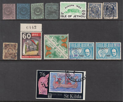 Worldwide Local & Private Posts Collection 13 diff stamps