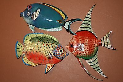(3) Seafood Restaurant Decor, Tropical Fish Wall Art, Coral Reef Theme,Sea Life