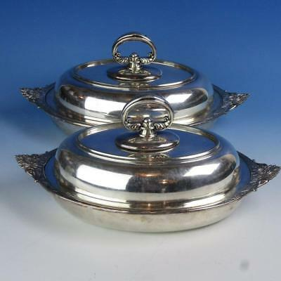 Tiffany & Co Makers - Silverplate Silver-Soldered - 2 Covered Serving Dishes