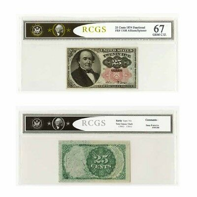 USA Fractional Currency Fifth Issue 1874 25 Cents Fr 1308 GEM CU