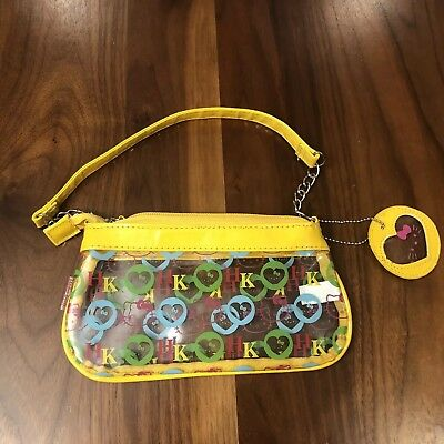 Sanrio Hello Kitty Make Up Bag Pouch Purse Pvc Officially Licensed Yellow Clear