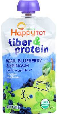 Happy Tot Toddler Food Organic Fiber And Protein Stage 4 Pear Blueb… Pack of 8