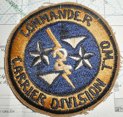 US NAVY PATCH - AIRCRAFT CARRIER DIVISION TWO - COMMANDER - Vietnam War - 894