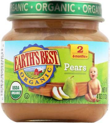 Earth'S Best Organic Pears Baby Food Stage 2 4 Oz. Pack of 6