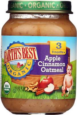 Earth'S Best Organic Apple Cinnamon Oatmeal Baby Food Stage 3 6 Oz. Pack of 6